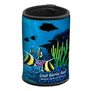 Fish Silhouette Can & Stubby Cooler