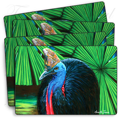 Set of 4 Cassowary Placemats