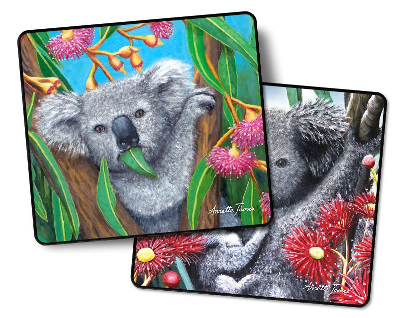 2 Pack Koala Drink Coasters #2