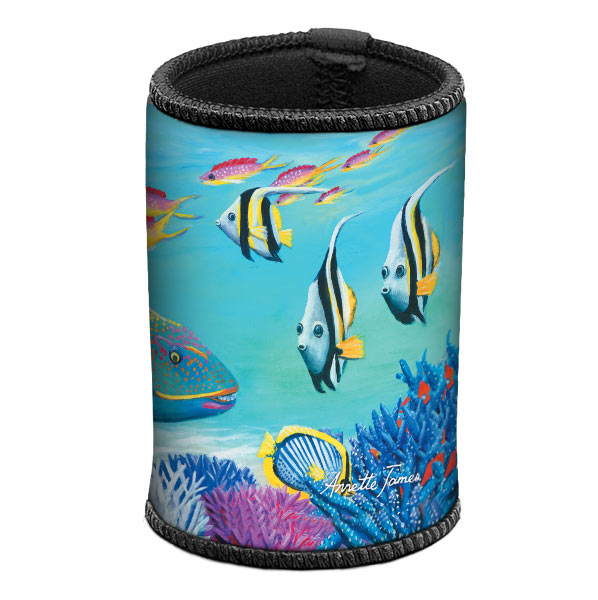 Parrot Fish & Coral Trout Can & Stubby Cooler