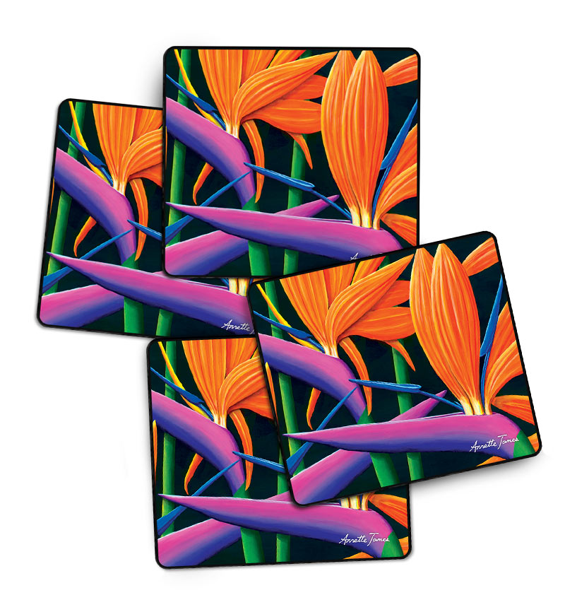 Floral Drink Coasters Set of 4 in a Gift Box